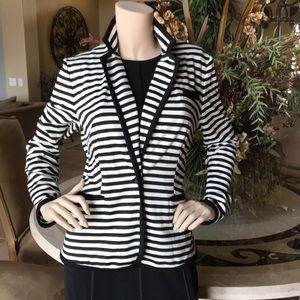 CALVIN KLEIN Black Striped Jacket M